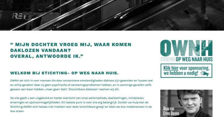 website Stichting Op weg naar huis